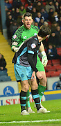 Sheffield Wednesday Goalkeeper, Keiren Westwood instructs the players before a corner during the Sky Bet Championship match between Blackburn Rovers and Sheffield Wednesday at Ewood Park, Blackburn, England on 28 November 2015. Photo by Mark Pollitt.