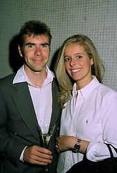 MR & MRS PAUL STEWART he is the son of racing driver Jackie Stewart, at a party in London on 15th July 1997.MAG 14