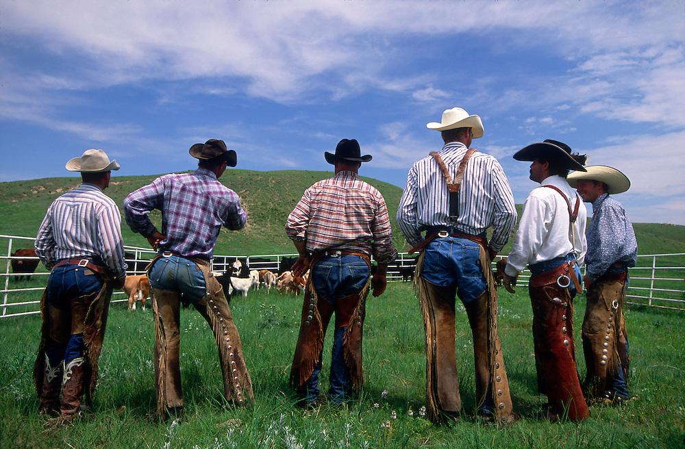 Ranch hands gather for branding in the Sandhills of Nebraska.