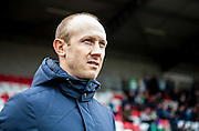Yeovil Town manager Darren Way during the Sky Bet League 2 match between Dagenham and Redbridge and Yeovil Town at the London Borough of Barking and Dagenham Stadium, London, England on 27 February 2016. Photo by Bennett Dean.