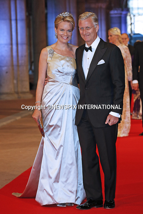 """CROWN PRINCE PHILLIPPE AND CROWN PRINCESS MATHILDE OF BELGIUM.attend the gala farewell dinner for Queen Beatrix at the Rijksmuseum in Amsterdam, The Netherlands_April 29, 2013..Crown Prince Willem-Alexander and Crown Princess Maxima will be proclaimed King and Queen  of The Netherlands on the abdication of Queen Beatrix on 30th April 2013..Mandatory Credit Photos: ©NEWSPIX INTERNATIONAL..**ALL FEES PAYABLE TO: """"NEWSPIX INTERNATIONAL""""**..PHOTO CREDIT MANDATORY!!: NEWSPIX INTERNATIONAL(Failure to credit will incur a surcharge of 100% of reproduction fees)..IMMEDIATE CONFIRMATION OF USAGE REQUIRED:.Newspix International, 31 Chinnery Hill, Bishop's Stortford, ENGLAND CM23 3PS.Tel:+441279 324672  ; Fax: +441279656877.Mobile:  0777568 1153.e-mail: info@newspixinternational.co.uk"""