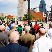 Kansas City streetcar starter line groundbreaking ceremony, May 22, 2014.