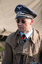 A reenactor portrays a member of German Luftwaffe aircrew during the Pickering 1940s Wartime Weekend. <br />