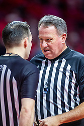 NORMAL, IL - November 10: Tommy Short and Gary Maxwell during a college basketball game between the ISU Redbirds and the Little Rock Trojans on November 10 2019 at Redbird Arena in Normal, IL. (Photo by Alan Look)
