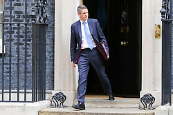 © Licensed to London News Pictures. 10/09/2019. London, UK. Secretary of State for Education GAVIN WILLIAMSON departs from No 10 Downing Street after attending the weekly Cabinet Meeting. Photo credit: Dinendra Haria/LNP