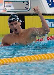 Winner Aaron Peirsol of USA during Men's  200m Backstroke Final during the 13th FINA World Championships Roma 2009, on July 31, 2009, at the Stadio del Nuoto,  in Foro Italico, Rome, Italy. (Photo by Vid Ponikvar / Sportida)