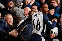 Photo: Daniel Hambury.<br />Tottenham Hotspur v Birmingham City. The Barclays Premiership. 26/12/2005.<br />Tottenham's Jermain Defoe celebrates his goal which made it 2-0.