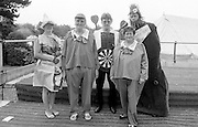 Adult fancy dress. 1st at Front Jean Walker and Sheila Close, Thurcroft; back row; 3rd Jane Cook, Grimethorpe; 2nd trevor Mills, Frickley; 4th David Rose, Treeton. NUM Centenary Demonstration and Gala, Barnsley.