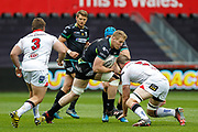 Ospreys second row Bradley Davies during the Guinness Pro 12 2017 Round 21 match between Ospreys and Ulster at the Liberty Stadium, Swansea, Wales on 29 April 2017. Photo by Andrew Lewis.