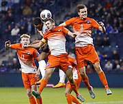 in the second half of an NCAA College Cup soccer match, Friday, Dec. 11, 2015, in Kansas City, Kan. (AP Photo/Colin E. Braley)