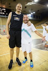 Raso Nesterovic and Dejan Zavec during football and basketball charity event All Legends by Olimpiki, on June 9, 2015 in Hala Tivoli, Ljubljana, Slovenia. Photo by Vid Ponikvar / Sportida