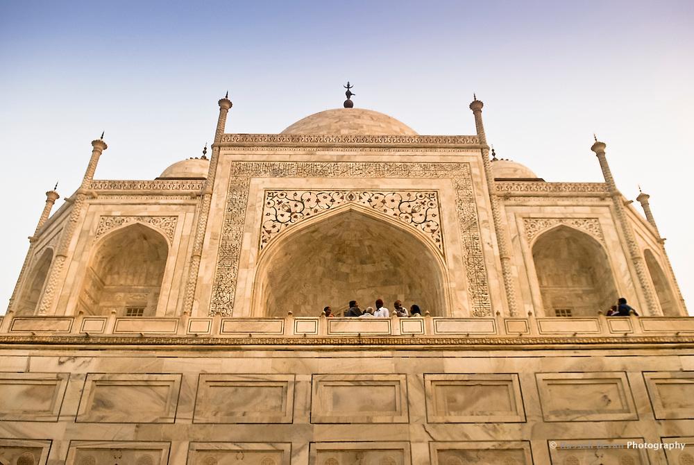 Morning light on the Taj Mahal in Agra, Uttar Pradesh, India