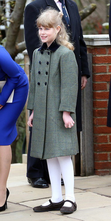 Lady Louise Windsor  leaves  the Easter Day service at St.George's Chapel, Windsor Castle, Sunday, 31st March 2013.  Photo by: Stephen Lock / i-Images