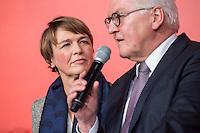 11 FEB 2017, BERLIN/GERMANY:<br /> Elke Buedenbender (L), Ehefrau von Steinmeier, und Frank-Walter Steinmeier (R), SPD, Kandidat fuer das Amt des Bundespraesidenten, waehrend einem Empfang der SPD anl. der Bundesversammlung, Westhafen Event und Convention Center<br />  IMAGE: 20170211-03-052<br /> KWYWORDS: Elke Büdenbender