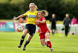 Millie Farrow of Bristol City Women battles for possession with Rosie Lane of Oxford United - Mandatory by-line: Robbie Stephenson/JMP - 25/06/2016 - FOOTBALL - Stoke Gifford Stadium - Bristol, England - Bristol City Women v Oxford United Women - FA Women's Super League 2