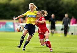 Millie Farrow of Bristol City Women battles for possession with Rosie Lane of Oxford United - Mandatory by-line: Robbie Stephenson/JMP - 25/06/2016 - FOOTBALL - Stoke Gifford Stadium - Bristol, England - Bristol City Women v Oxford United Women - FA Women's Super League 2