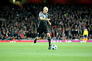 Bayern Munich attacker Arjen Robben (10) dribbling and starting an attack during the Champions League round of 16, game 2 match between Arsenal and Bayern Munich at the Emirates Stadium, London, England on 7 March 2017. Photo by Matthew Redman.