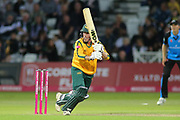 Luke Wood of Nottinghamshire Nottinghamshire Outlaws sets off for a run during the Vitality T20 Blast North Group match between Nottinghamshire County Cricket Club and Worcestershire County Cricket Club at Trent Bridge, West Bridgford, United Kingdon on 18 July 2019.