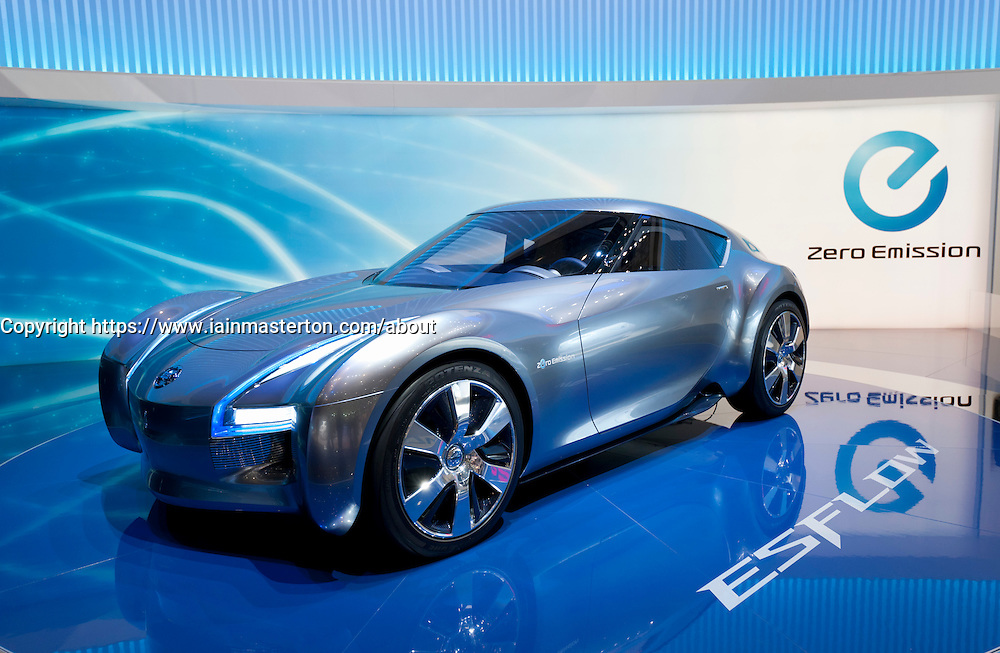 Nissan Esflow electric concept car at  the Geneva Motor Show 2011 Switzerland