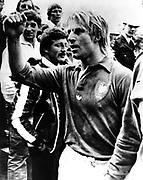 Jean Pierre Rives, French captain, New Zealand All Blacks v France, July 1979 in New Zealand. Photo: PHOTOSPORT/Peter Bush