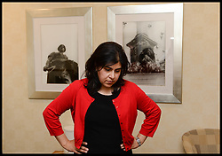 """Image ©Licensed to i-Images Picture Agency. 05/08/2014. London, United Kingdom. Baroness Warsi at her home in London after resigning from the UK Government. The UK Foreign Office minister Baroness Warsi resigned, calling the government's policy on Gaza """"morally indefensible"""". Picture by Andrew Parsons / i-Images"""