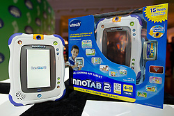 © Licensed to London News Pictures. 31/10/2012. London, UK. A Vtech 'Innotab 2' (RRP GB£84.99) is seen at a Toy Retailers Association (TRA) fair in London today (31/10/12) as the organisation released its 13 Dream Toys for Christmas 2012. Photo credit: Matt Cetti-Roberts/LNP