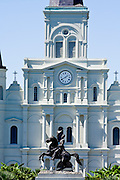 20 SEPTEMBER 2006 - NEW ORLEANS, LOUISIANA: St. Louis Cathedral on Jackson Square in New Orleans, LA.  Photo by Jack Kurtz / ZUMA Press