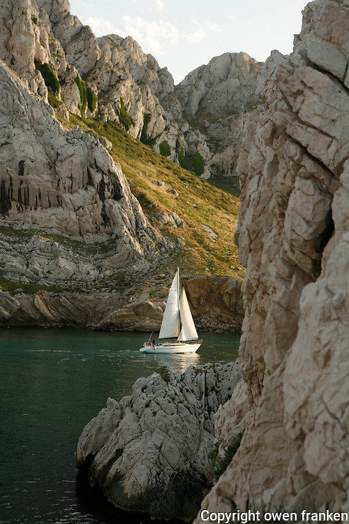 boats at the Baie des Singes (Monkey Bay).near Marseille.