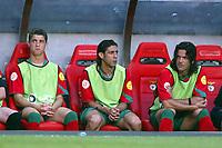 Lisbon 16/6/2004 Euro2004 <br />RUSSIA PORTUGAL<br />Rolando Rui Costa e Fernando Couto in panchina<br />Photo Graffiti