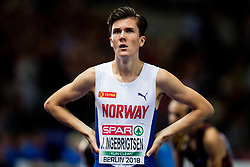 August 10, 2018 - Berlin, GERMANY - 180810 Jakob Ingebrigtsen of Norway after winning the men's 1500 meter final during the European Athletics Championships on August 10, 2018 in Berlin..Photo: Vegard Wivestad GrÂ¿tt / BILDBYRN / kod VG / 170201 (Credit Image: © Vegard Wivestad Gr¯Tt/Bildbyran via ZUMA Press)