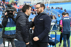 December 15, 2018 - Getafe, Madrid, Spain - Coachs of Getafe and Real Sociedad, Garitano and Bordalas during La Liga Spanish championship, , football match between Getafe and Real Sociedad, December 15, in Coliseum Alfonso Perez in Getafe, Madrid, Spain. (Credit Image: © AFP7 via ZUMA Wire)