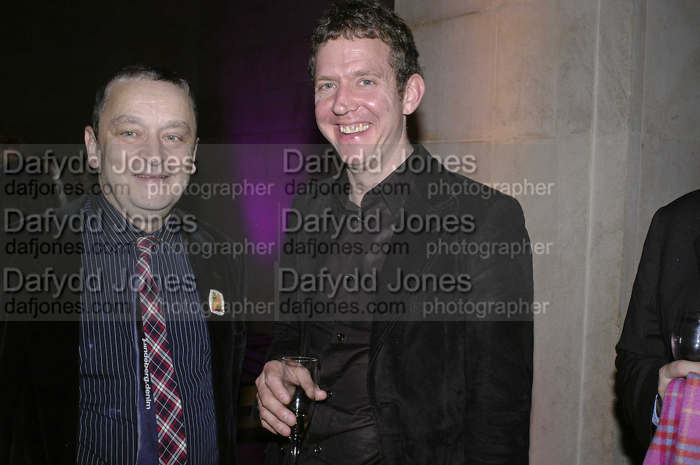Norman Rosenthall and Martin Creed, Turner Prize 2006. Tate Gallery. London. 4 December 2006. ONE TIME USE ONLY - DO NOT ARCHIVE  © Copyright Photograph by Dafydd Jones 248 CLAPHAM PARK RD. LONDON SW90PZ.  Tel 020 7733 0108 www.dafjones.com