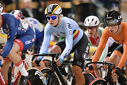 March 2, 2018 - Apeldoorn, NETHERLANDS - Belgian Lotte Kopecky pictured in action during the omnium women event at the 2018 world championships track cycling in Apeldoorn, the Netherlands, Friday 02 March 2018. The track cycling worlds take place from 28 February to 04 March. BELGA PHOTO YORICK JANSENS (Credit Image: © Yorick Jansens/Belga via ZUMA Press)
