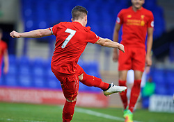 BIRKENHEAD, ENGLAND - Sunday, October 23, 2016: Liverpool's captain Harry Wilson scores the second goal against Everton during the Mini-Derby FA Premier League 2 Under-23 match at Prenton Park. (Pic by David Rawcliffe/Propaganda)