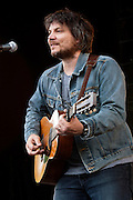 Singer-songwriter Jeff Tweedy of Wilco plays a solo acoustic set of music during his headlining performance on Sunday night at the Solid Sound Festival, Wilco's inaugural music festival, at the Massachussetts Museum of Contemporary Art. Over 5,000 people attended the three-day festival in the Berkshires, which featured music, art, comedy, and more.