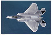 F/A-22 Raptor, air-to-air, top view