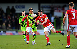 Nathan Sheron of Walsall applies pressure on Odin Bailey of Forest Green Rovers- Mandatory by-line: Nizaam Jones/JMP - 08/02/2020 - FOOTBALL - New Lawn Stadium - Nailsworth, England - Forest Green Rovers v Walsall - Sky Bet League Two