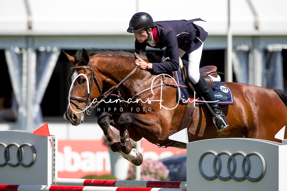 Van Erp Jarno, (NED), Bon Giorno Go<br /> Nederlands kampioenschap springen - Mierlo 2016<br /> © Hippo Foto - Dirk Caremans<br /> 21/04/16