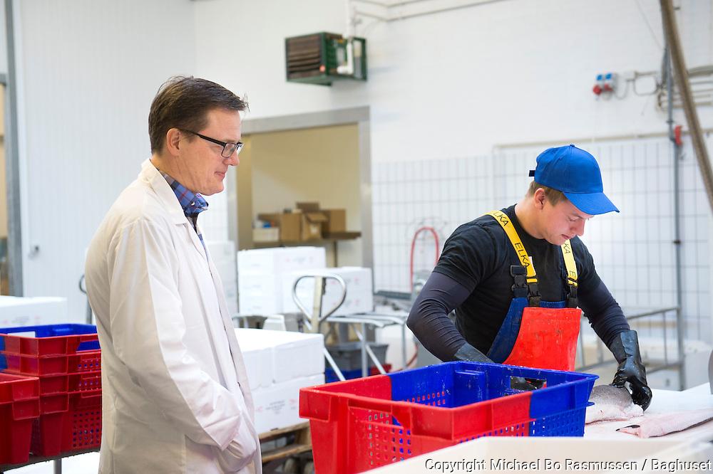 Carsten Beith, adm. direktør, Fonfisk A/S. I produktionen med Mads Svane. Foto: © Michael Bo Rasmussen / Baghuset. Dato: 19.03.14