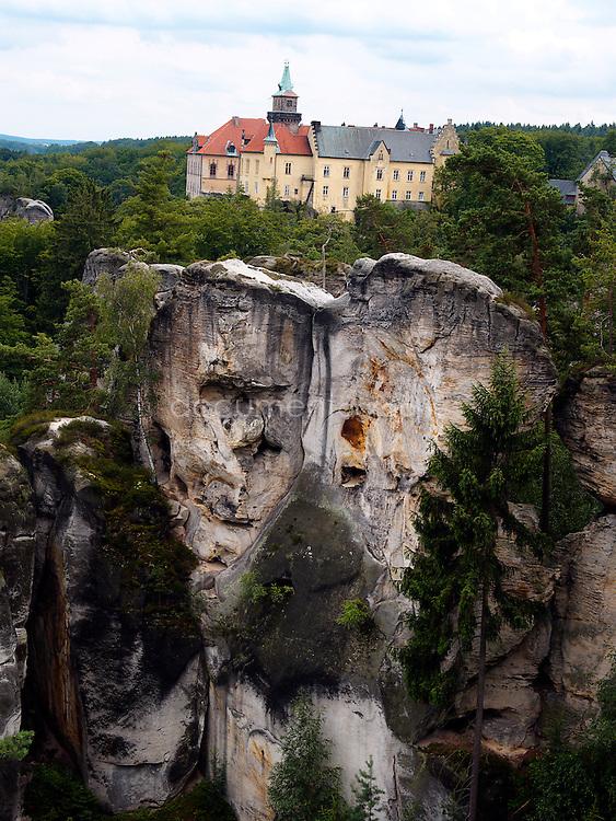 Hruba Skala chateau, Cesky Raj, Czech republic.