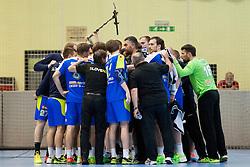 Team Slovenia during handball match between National teams of Slovenia and Hungary in play off of 2015 Men's World Championship Qualifications on June 15, 2014 in Rdeca dvorana, Velenje, Slovenia. Photo by Urban Urbanc / Sportida