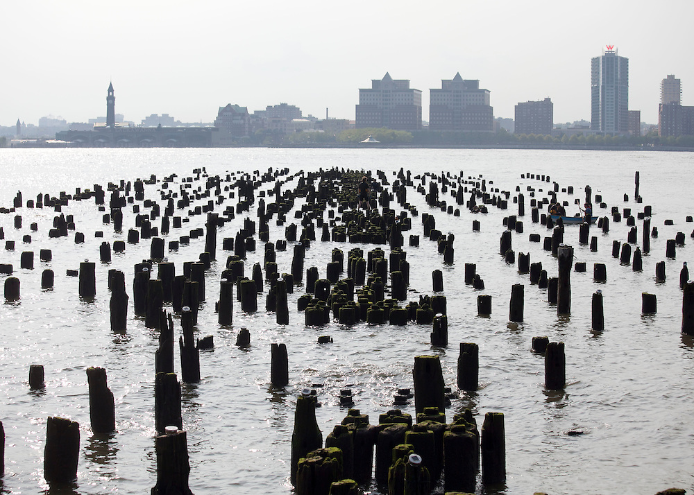 New York, NY: Installation of Reflecting the Stars by Jon Morris and the Windmill Factory