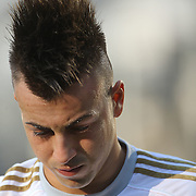Stephan El Shaarawy injured during training with AC Milan in preparation for the Guinness International Champions Cup tie with Chelsea at MetLife Stadium, East Rutherford, New Jersey, USA.  3rd August 2013. Photo Tim Clayton