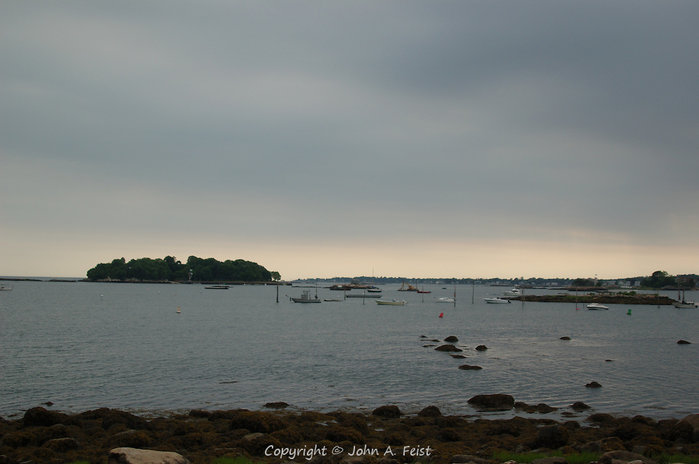 Looking east out onto Long Island Sound from Stone Creek, CT