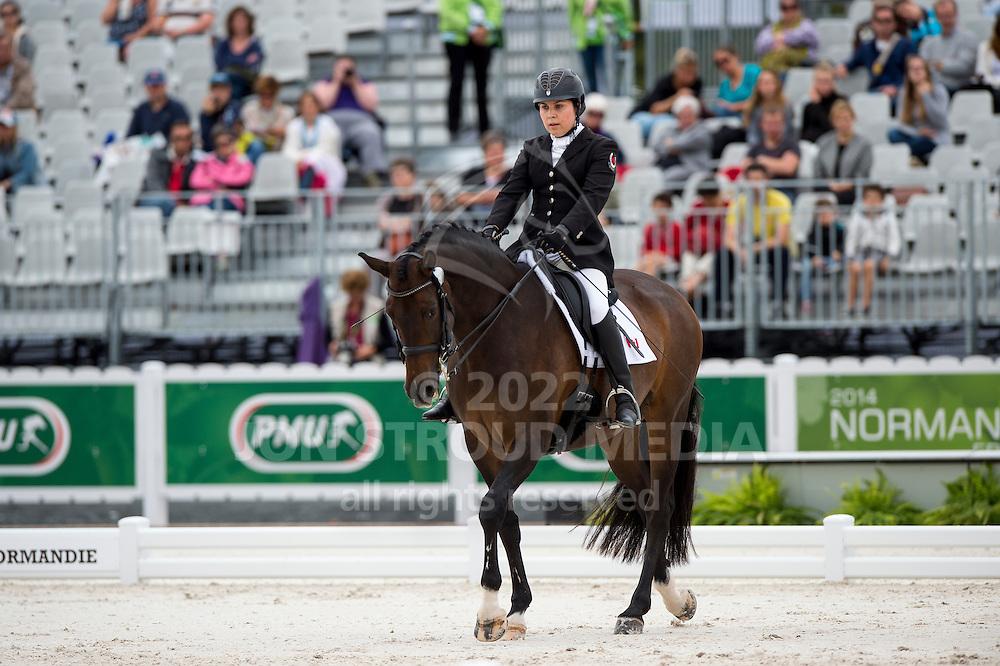 Ashley Gowanlock, (CAN), Ferdonia 2 - Individual Test Grade Ib Para Dressage - Alltech FEI World Equestrian Games&trade; 2014 - Normandy, France.<br /> &copy; Hippo Foto Team - Jon Stroud <br /> 25/06/14
