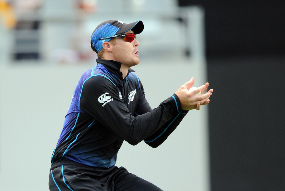 New Zealand's Martin Guptill takes the catch to dismiss Pakistan's Wahab Riaz for 11 in the 3rd ODI International Cricket match at Eden Park, Auckland, New Zealand, Sunday, January 31, 2016. Credit:SNPA / Ross Setford