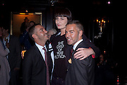 DAN CATEN, ERIN O'CONNOR;  DEAN CATEN (OF DQUARED2 ) DSquared2 Launch of their Classic collection. Tramp. Jermyn St. London. 29 June 2011. <br /> <br />  , -DO NOT ARCHIVE-© Copyright Photograph by Dafydd Jones. 248 Clapham Rd. London SW9 0PZ. Tel 0207 820 0771. www.dafjones.com.