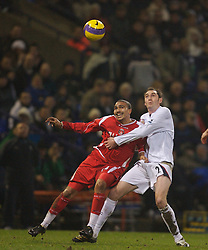 Bolton, England - Wednesday, January 31, 2007: Bolton Wanderers' Nicky Hunt and Charlton Athletic's Jerome Thomas during the Premiership match at the Reebok Stadium. (Pic by David Rawcliffe/Propaganda)