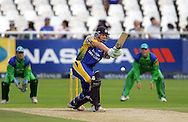CAPE TOWN, SOUTH AFRICA - 22 February 2008, Stiaan Van Zyl nicks the ball to be caught behind during the MTN Domestic Championship match between the Nashua Cape Cobras and the Nashua Dolphins held at Sahara Park, Newlands Stadium in Cape Town, South Africa...Photo by Ron Gaunt/SPORTZPICS