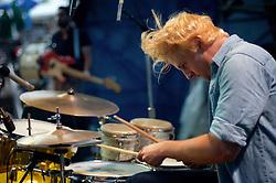 Riverstage, Great Plaza of Penn's Landing, Philadelphia, PA - September 6-9, 2012; The drummer of Maps & Atlases.